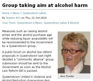 Ann Fowler in Otaga Daily Times